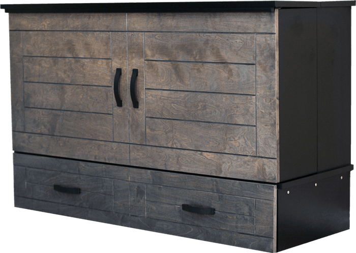Metro Grey cabinet bed Closed