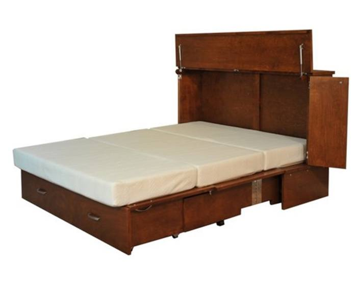 opened park cabinet bed